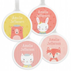 Tinyme Personalised Bag Tag 4 Pack