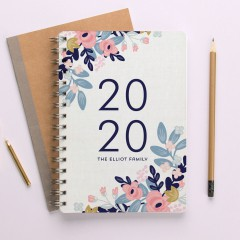 Personalised Horizontal Mid Year Diary