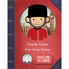 Party Time In London Personalised Story Book Cover