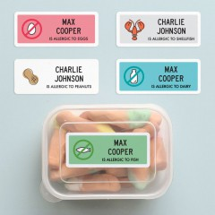 Tinyme Allergy Labels