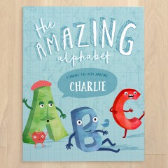 Tinyme Amazing Alphabet Personalised Book Cover