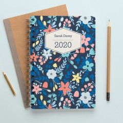 Personalised Vertical Names Mid Year Diary