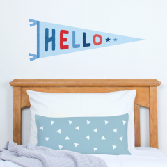 Hello Pennant Decal