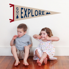 Explore Pennant Decal