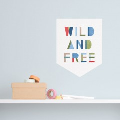 Wild and Free Banner Decal