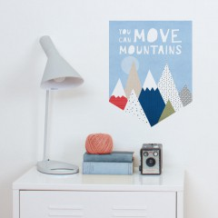 You Can Move Mountains Banner Decal