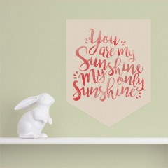 Sunshine Quote Banner Decal
