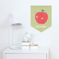 Adorable Apple Banner Decal