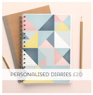 Get organised in style with a Personalised Diary