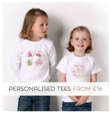 Shop Personalised Tees from Tinyme
