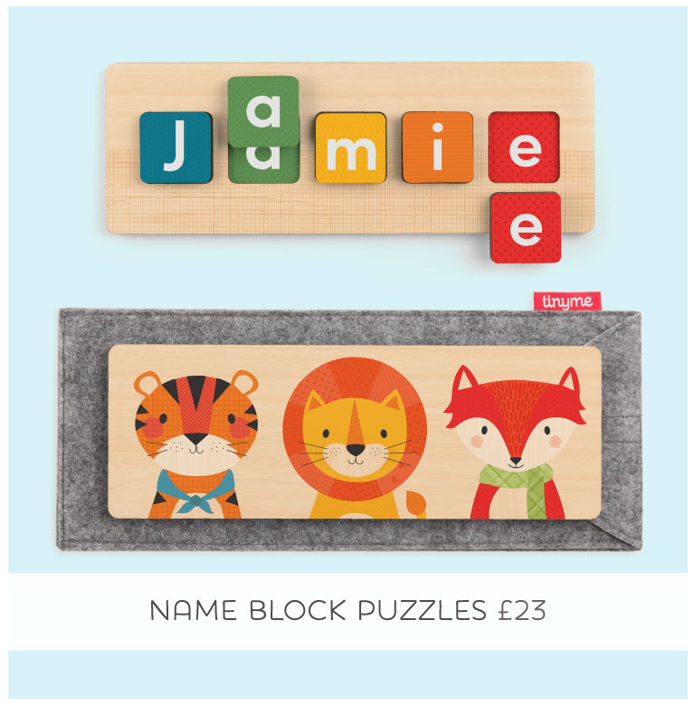 Shop Tinyme Personalised Name Block Puzzle