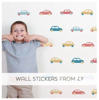 Removable Fabric Wall Stickers for Boys