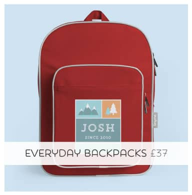 Personalised Large Backpacks make a great gift!